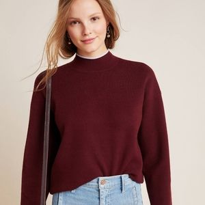 Anthropologie Lizzie Pullover Mock Neck Sw…